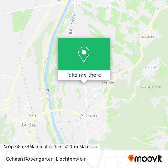 Schaan Rosengarten map