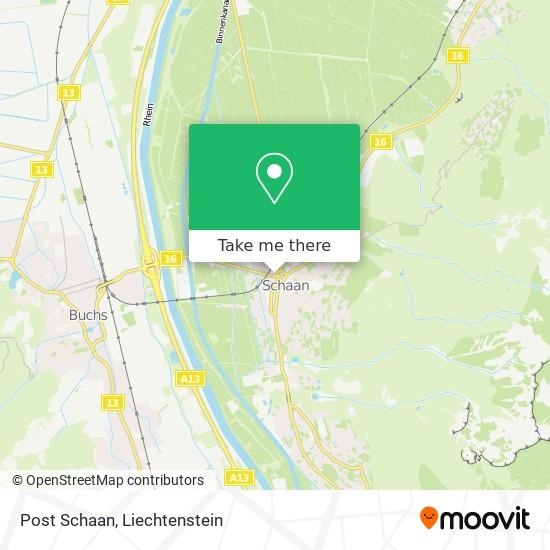 Post Schaan map