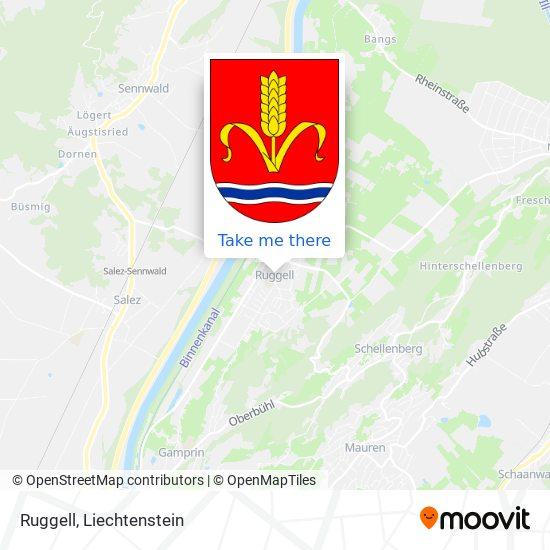 Ruggell map