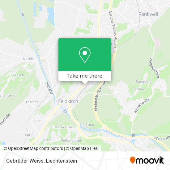 Gebrüder Weiss map