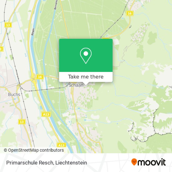 Primarschule Resch map