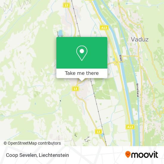Coop Sevelen map