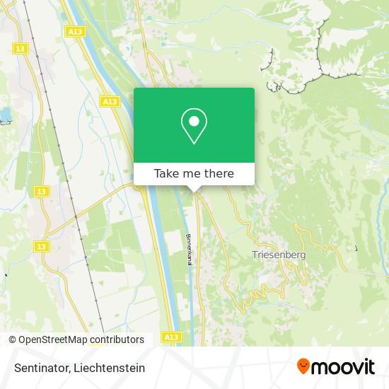 Sentinator map