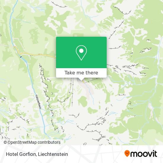 Hotel Gorfion map