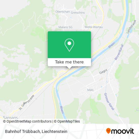 Bahnhof Trübbach map