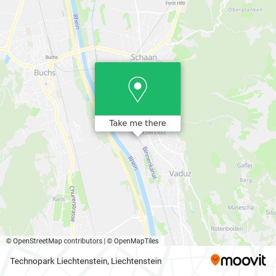 Technopark Liechtenstein map