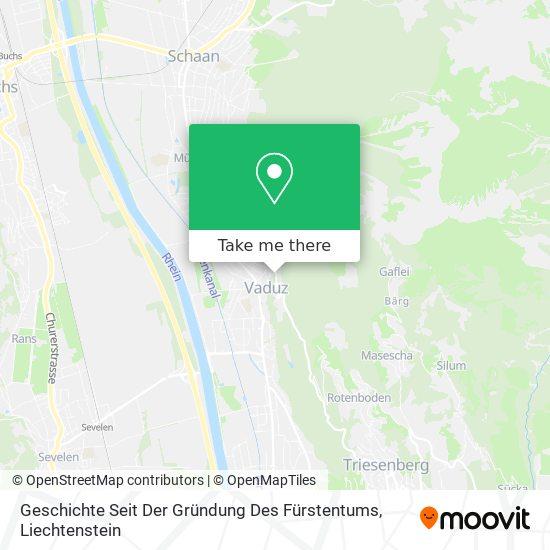 Geschichte Seit Der Gründung Des Fürstentums map