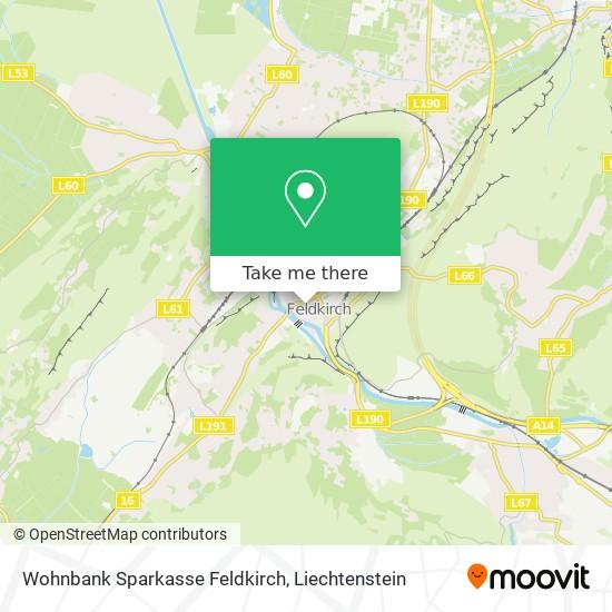Wohnbank Sparkasse Feldkirch map