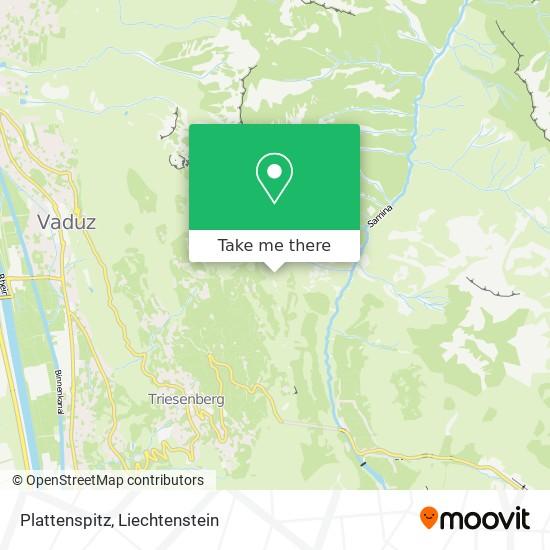 Plattenspitze map