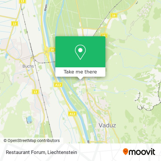 Restaurant Forum map