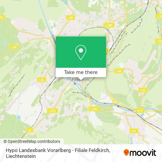 Hypo Landesbank Vorarlberg - Filiale Feldkirch map
