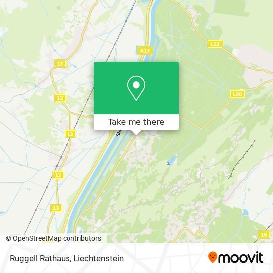 Ruggell Rathaus map