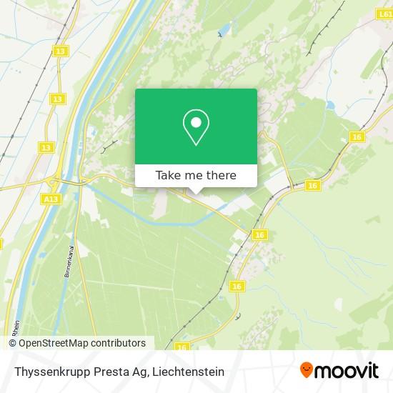 Thyssenkrupp Presta Ag map