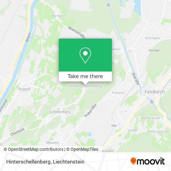 Schellenberg Hinterschellenberg map