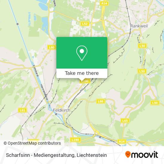 Scharfsinn - Mediengestaltung map