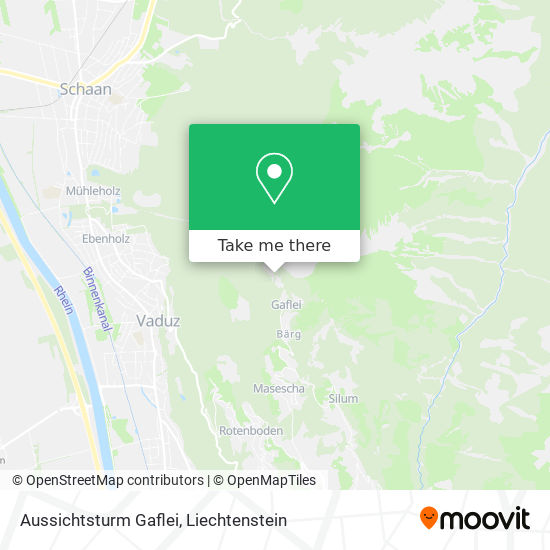 Aussichtsturm Gaflei map