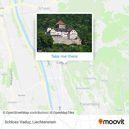 Schloss Vaduz map