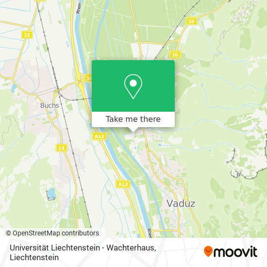 Universität Liechtenstein - Wachterhaus map