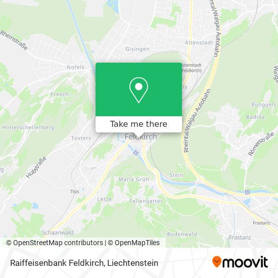 Raiffeisenbank Feldkirch map