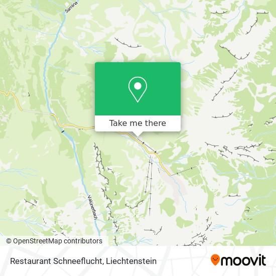 Restaurant Schneeflucht map