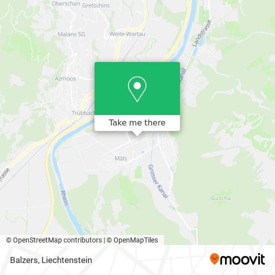 Balzers map