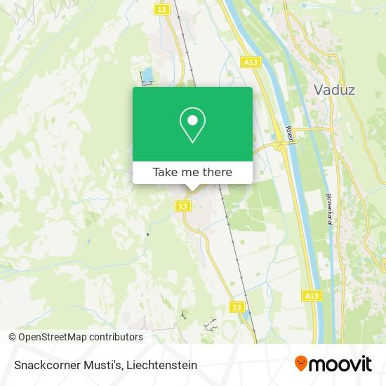 Snackcorner Musti's map