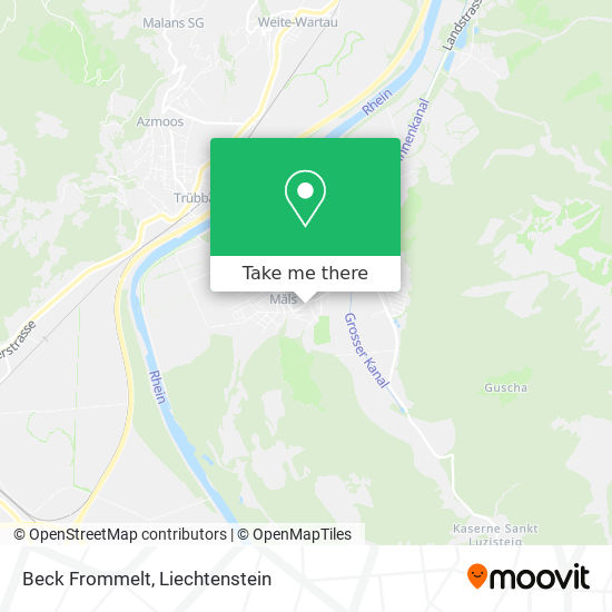 Beck Frommelt map
