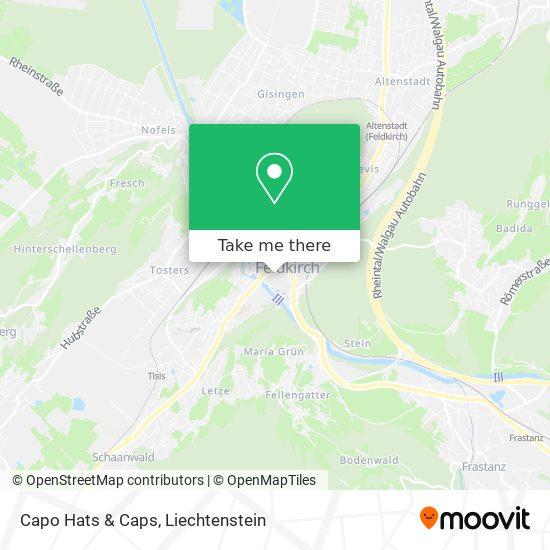Capo Hats & Caps map