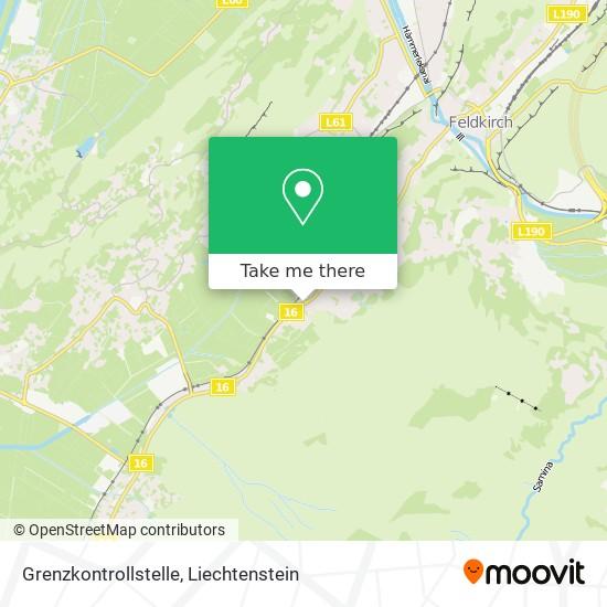 Grenzkontrollstelle map