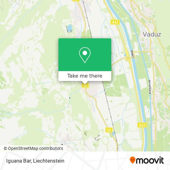 Iguana Bar map