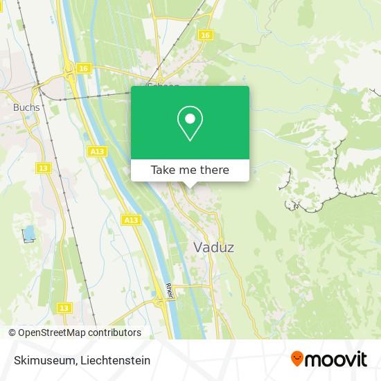 Skimuseum map
