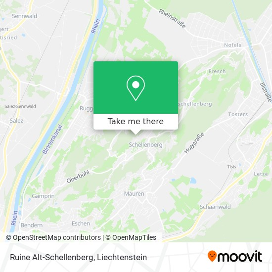 Ruine Alt-Schellenberg map