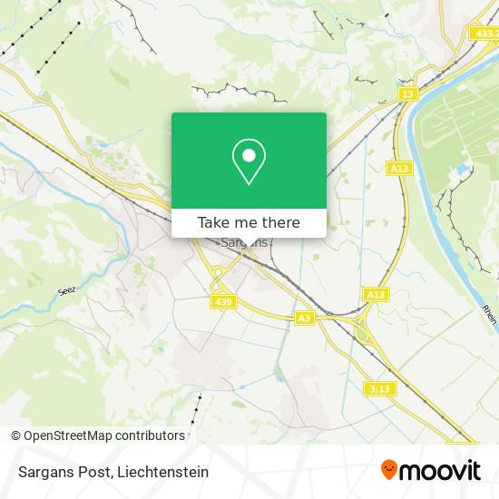 Sargans Post map