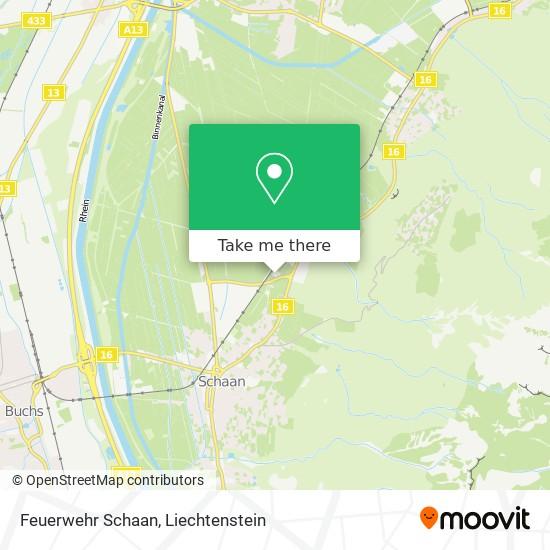 Feuerwehr Schaan map