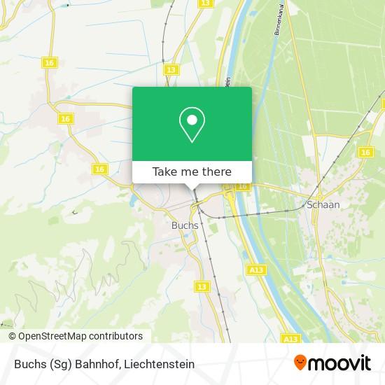 Buchs (Sg) Bahnhof map