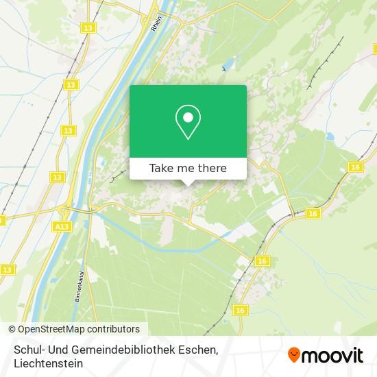 Schul- Und Gemeindebibliothek Eschen map