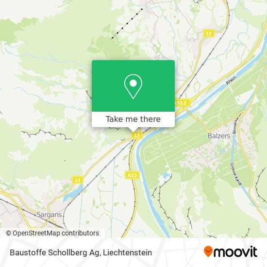 Baustoffe Schollberg Ag map