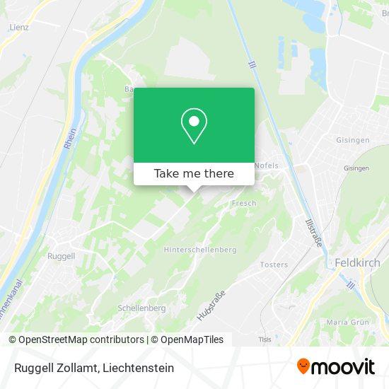 Ruggell Zollamt map