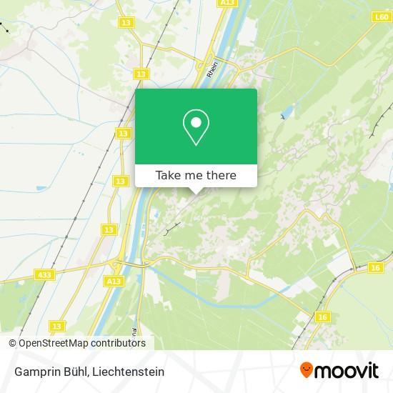 Gamprin Bühl map