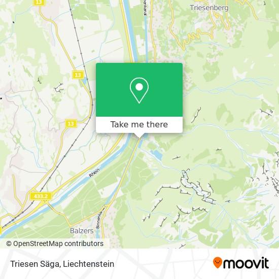 Triesen Säga map