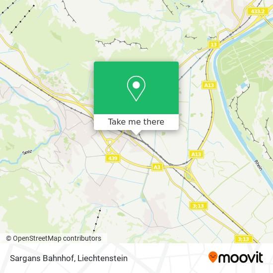 Sargans Bahnhof map