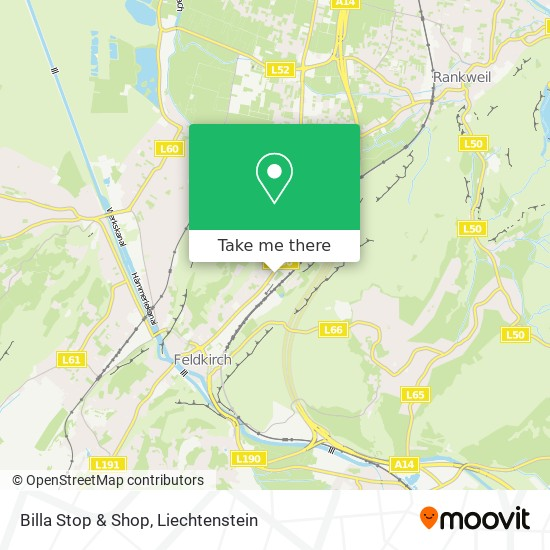 Billa Stop & Shop map
