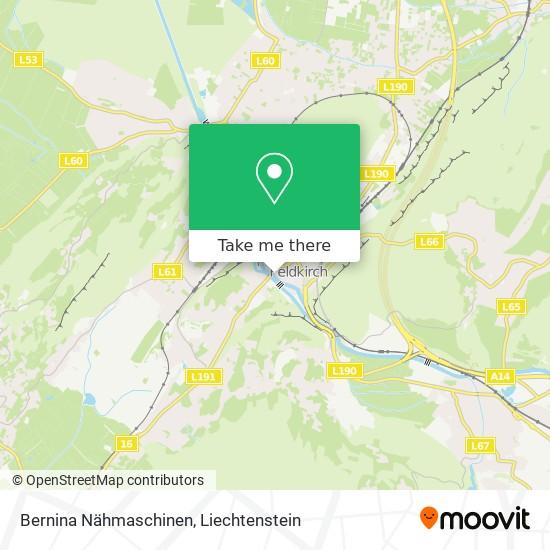 Bernina Nähmaschinen map