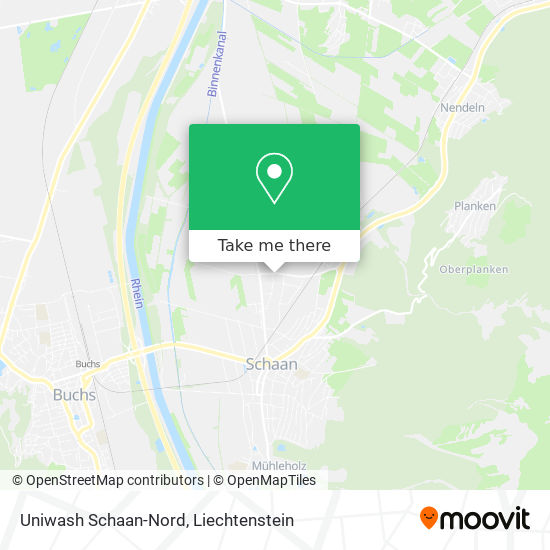 Uniwash Schaan-Nord map