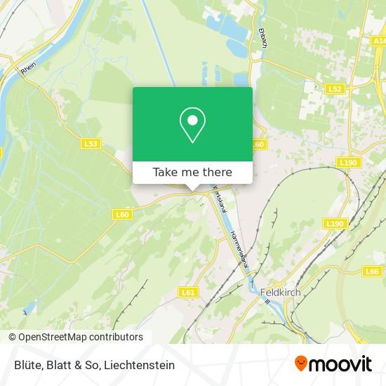 Blüte, Blatt & So map