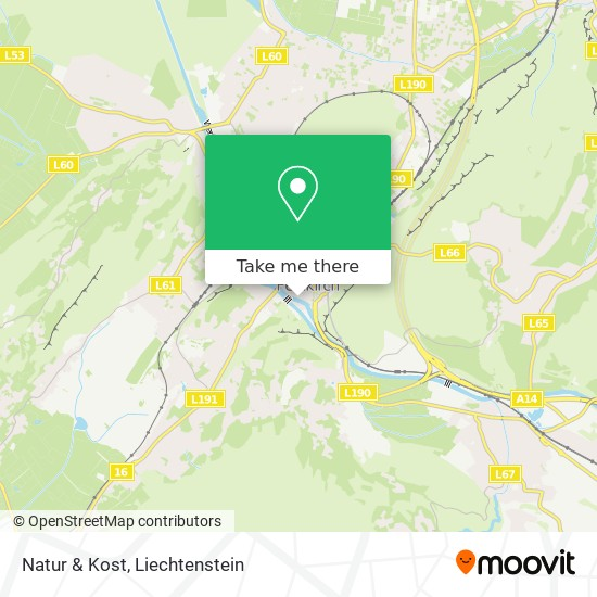 Natur & Kost map