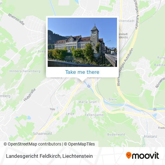 Landesgericht Feldkirch map