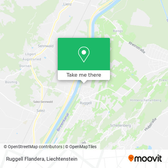 Ruggell Flandera map