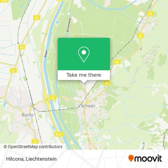 Hilcona map