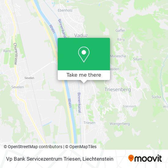 Vp Bank Servicezentrum Triesen map